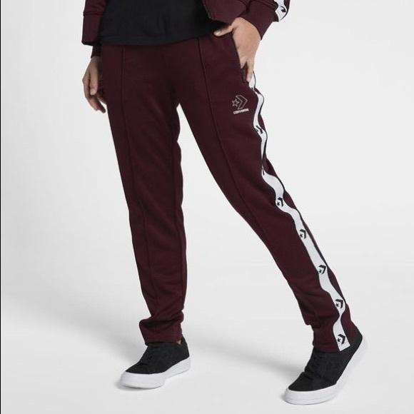 2b32f82d9028 Converse Pants - Converse women s M track pant in maroon